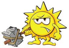 Sol bonito dos desenhos animados Fotos de Stock Royalty Free