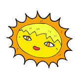 sol bonito dos desenhos animados cômicos Fotografia de Stock Royalty Free