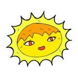 sol bonito dos desenhos animados cômicos Foto de Stock Royalty Free