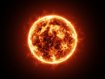Sol- brand Arkivbilder