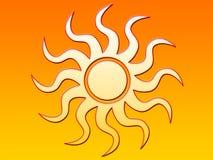 Sol brilhante ilustração stock