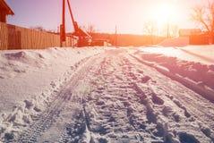 Sol brillante en un día de invierno escarchado Fotografía de archivo