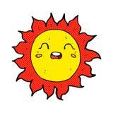 sol cômico dos desenhos animados Imagens de Stock
