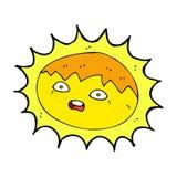 sol cômico dos desenhos animados Foto de Stock