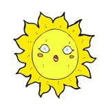 sol cômico dos desenhos animados Fotos de Stock