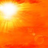 Sol caliente del verano
