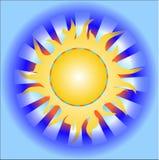 Sol caliente del verano Imagen de archivo libre de regalías
