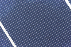 Sol- cel-panelslut upp, detalj Arkivfoto