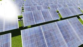 sol- cell Arkivfoto