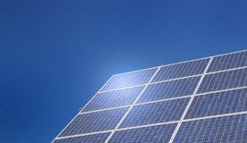 sol- cell Arkivfoton