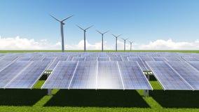 Sol- cell för turbin Royaltyfri Fotografi