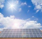Sol- celler på taket Arkivbilder