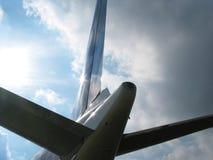 Sol cinzento das nuvens do adeus? olá!! Fotos de Stock Royalty Free