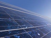 sol- closeuppanel Arkivbild