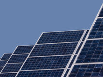 sol- closeuppanel Royaltyfri Fotografi