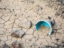 Sol criqué de sécheresse Photographie stock