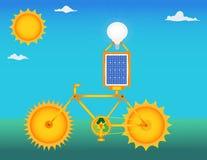 sol- cykel Fotografering för Bildbyråer