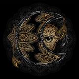 Sol da lua da alquimia ilustração stock