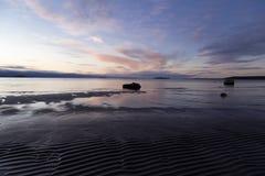 Sol da manhã na praia Fotografia de Stock Royalty Free