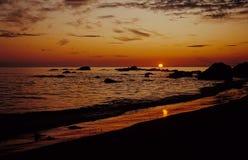 Sol da meia-noite Fotografia de Stock