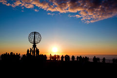 Sol da meia-noite Fotos de Stock