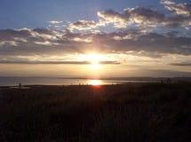 Sol da meia-noite Imagem de Stock