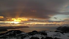 Sol da meia-noite Imagens de Stock Royalty Free