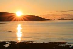 Sol da meia-noite Imagem de Stock Royalty Free