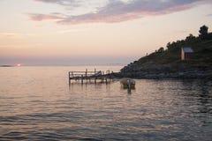 Sol da meia-noite Noruega Imagens de Stock