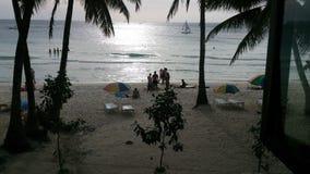 Sol da noite da praia de Boracay Foto de Stock Royalty Free