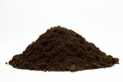 Sol noir avec le compost photos libres de droits image - Gros vers blancs dans le compost ...