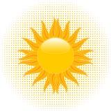 Sol de ardência do verão Fotos de Stock