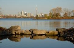Sol de la última hora de la tarde de Toronto Fotografía de archivo libre de regalías