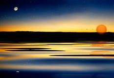 Sol de la estrella de la luna libre illustration