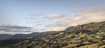 Sol de la mañana en el valle fotografía de archivo libre de regalías