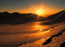 Sol de la montaña Imágenes de archivo libres de regalías