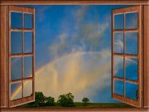Sol de la nube de la ventana abierta Fotos de archivo libres de regalías