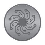 Icono o logotipo electrónico abstracto. Sol de la placa de circuito. libre illustration