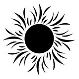 Sol de la silueta Fotografía de archivo