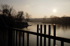Sol de la tarde en Moldava Imagen de archivo