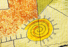 Sol de la textura stock de ilustración