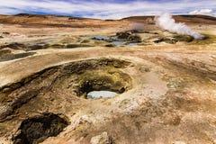 Sol DE Mañana Geyser Uyunireis rond de meren en de vulkanen van de Boliviaanse Andes een verbazende reis royalty-vrije stock afbeeldingen
