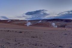 Sol de Manana Geothermal Active-Bereich Altiplano Bolivien Lizenzfreie Stockfotos