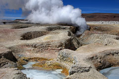 Sol de manana geyser field, Bolivia Stock Photo
