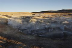 Sol de Manana geysers Stock Photos