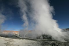 Sol de Manana geysers in Bolivian Andes Royalty Free Stock Photography