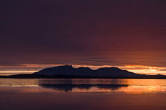Sol de medianoche Foto de archivo
