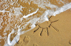 Sol de Sandy Fotografía de archivo libre de regalías