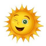 Sol de sorriso do vetor ilustração stock