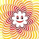 Sol de sorriso dos desenhos animados. CCB de torção listrado colorido Fotos de Stock Royalty Free